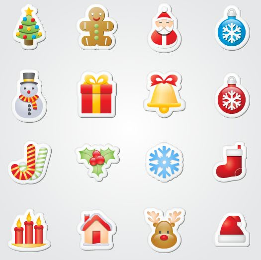 16 Free Xmas Sticker Icons