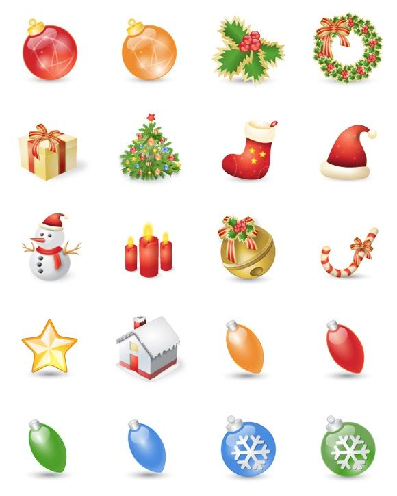 Free Christmas Icon Set - Xmas Festival