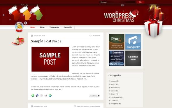 WordPress Christmas V1.1 - instantShift