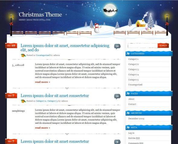 Xmas Theme - Site5