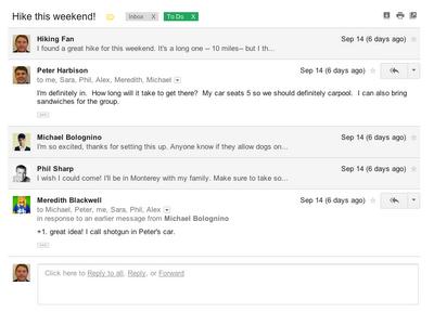 Avatar do remetente do email